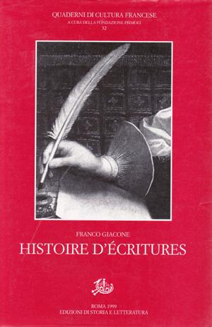 copertina di Histoire d'Ecritures