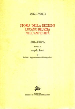 copertina di Storia della regione lucano-bruzzia nell'antichità. II