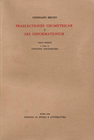 copertina di «Praelectiones geometricae» e «Ars deformationum»