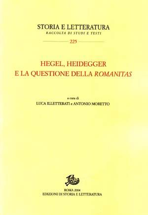 copertina di Hegel, Heidegger e la questione della Romanitas