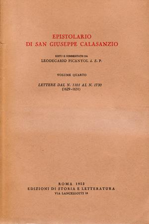 copertina di Epistolario di san Giuseppe Calasanzio. IV